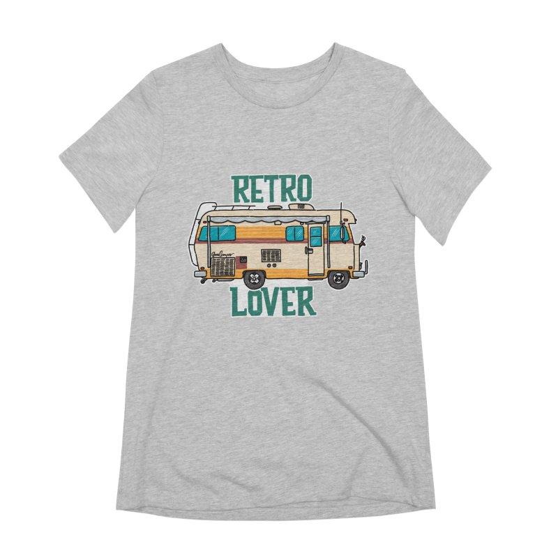 Commander Retro Lover Women's Extra Soft T-Shirt by Illustrated GuruCamper