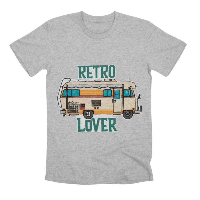 Commander Retro Lover Men's Premium T-Shirt by Illustrated GuruCamper