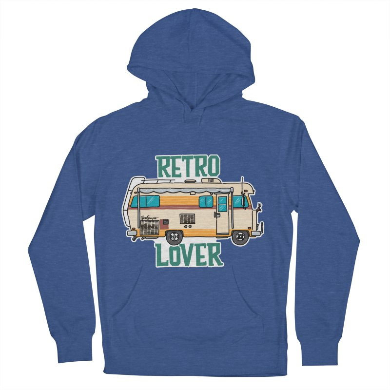 Commander Retro Lover Women's French Terry Pullover Hoody by Illustrated GuruCamper