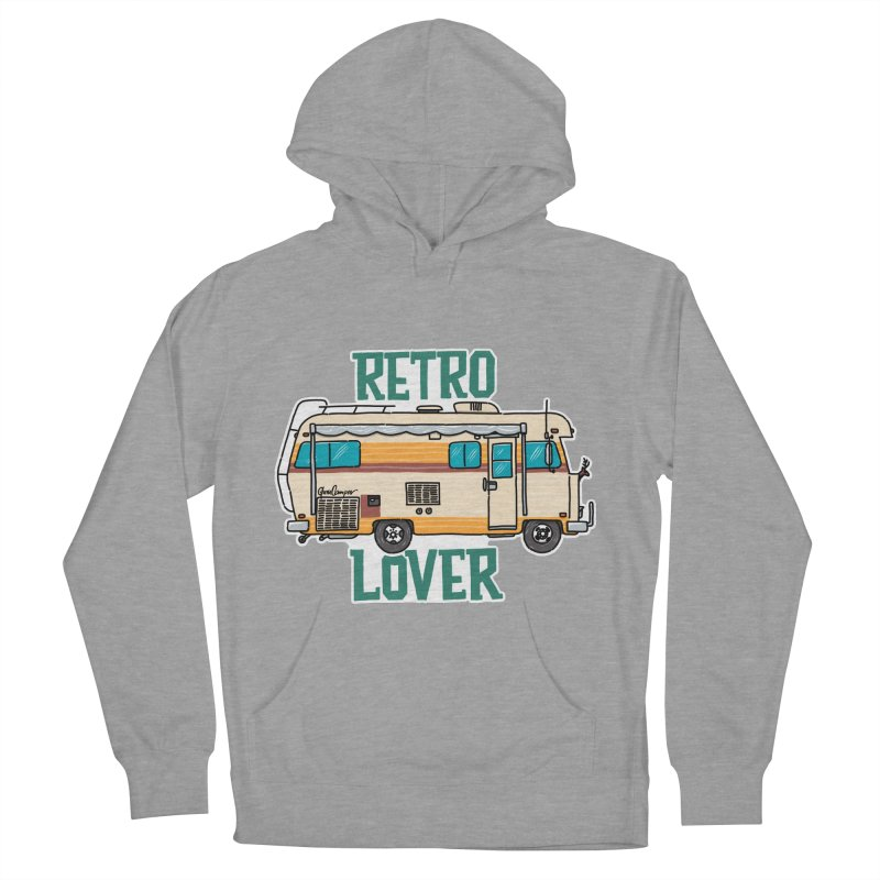 Commander Retro Lover Men's French Terry Pullover Hoody by Illustrated GuruCamper