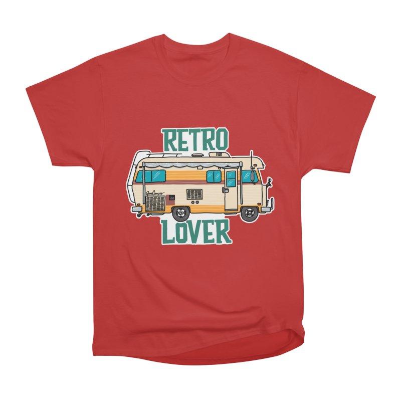 Commander Retro Lover Women's Heavyweight Unisex T-Shirt by Illustrated GuruCamper