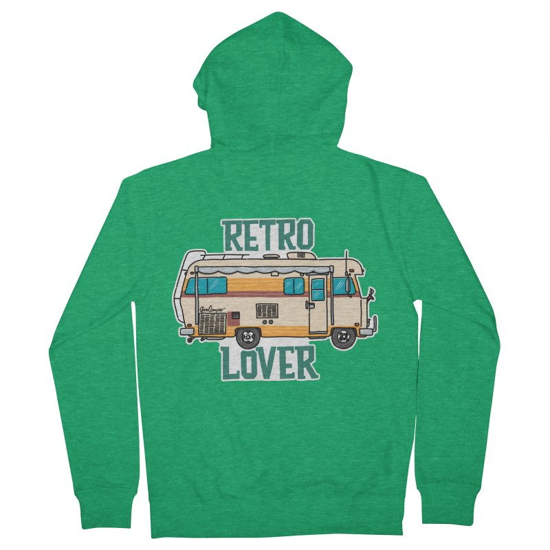 Commander Retro Lover Women's French Terry Zip-Up Hoody by Illustrated GuruCamper