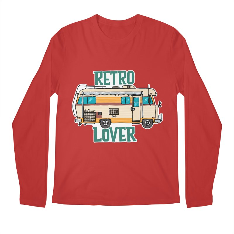 Commander Retro Lover Men's Regular Longsleeve T-Shirt by Illustrated GuruCamper