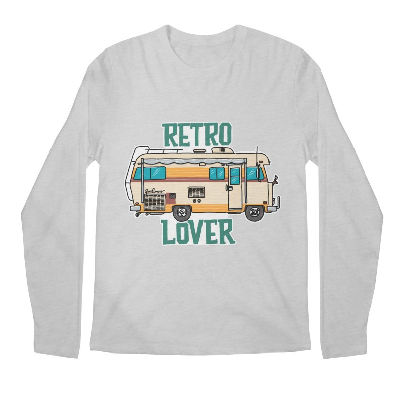 Commander Retro Lover Men's Regular Longsleeve T-Shirt by Illustrated GuruCamper