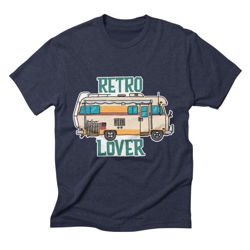 Commander Retro Lover Men's Triblend T-Shirt by Illustrated GuruCamper