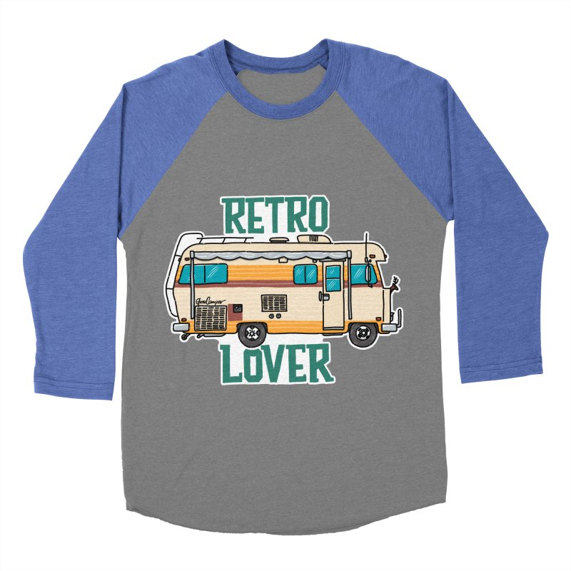 Commander Retro Lover Women's Baseball Triblend Longsleeve T-Shirt by Illustrated GuruCamper