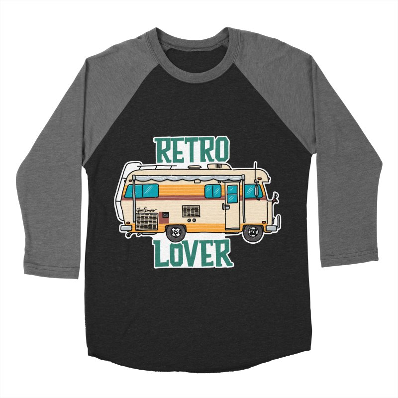 Commander Retro Lover Men's Baseball Triblend Longsleeve T-Shirt by Illustrated GuruCamper