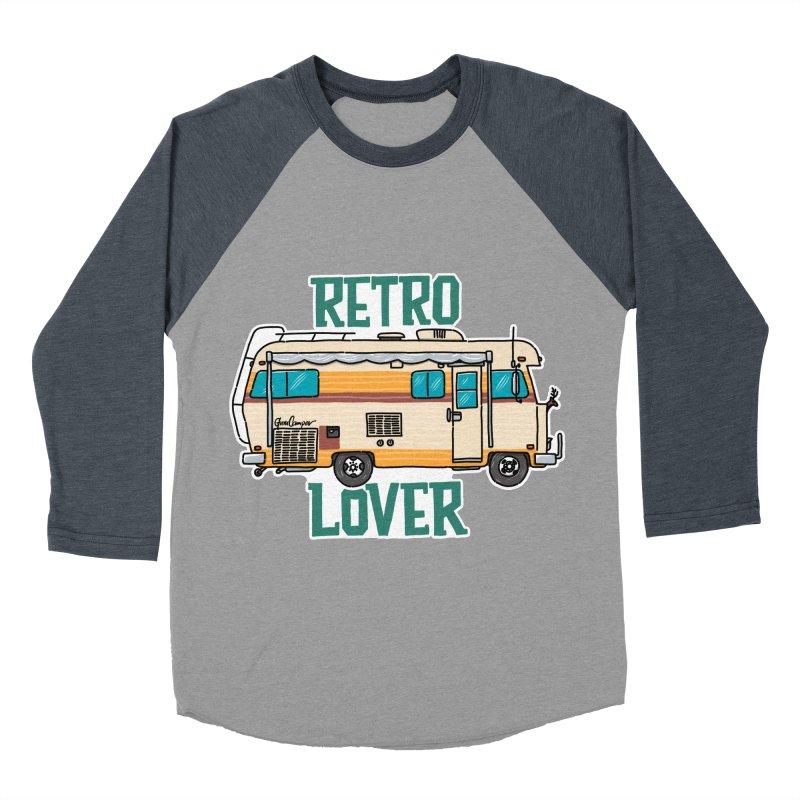 Commander Retro Lover Men's Baseball Triblend Longsleeve T-Shirt by Illustrated GuruCamper