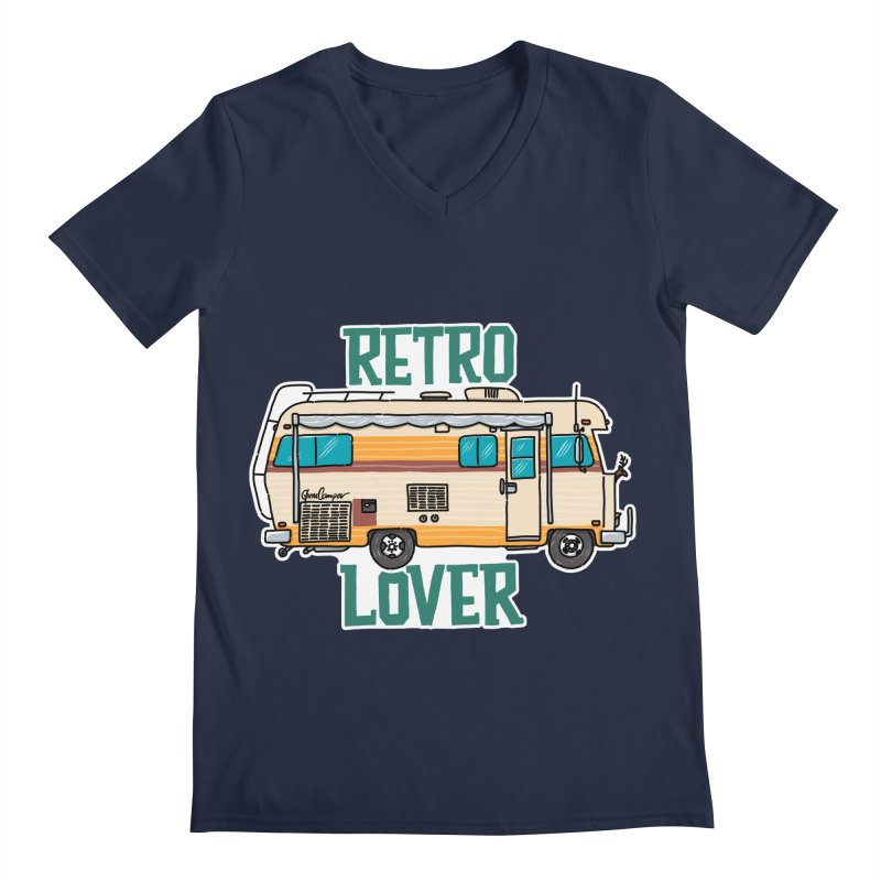 Commander Retro Lover Men's Regular V-Neck by Illustrated GuruCamper