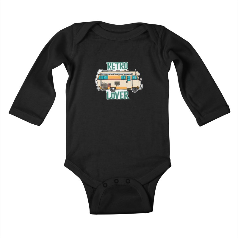 Commander Retro Lover Kids Baby Longsleeve Bodysuit by Illustrated GuruCamper