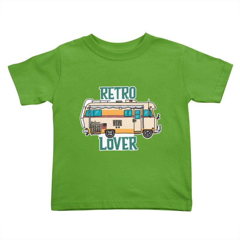 Commander Retro Lover Kids Toddler T-Shirt by Illustrated GuruCamper