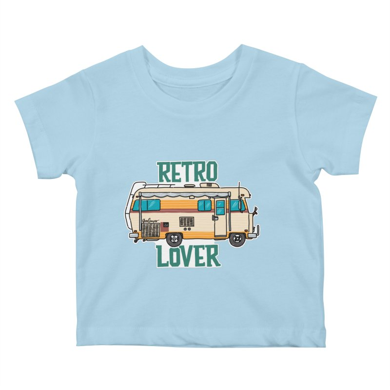Commander Retro Lover Kids Baby T-Shirt by Illustrated GuruCamper