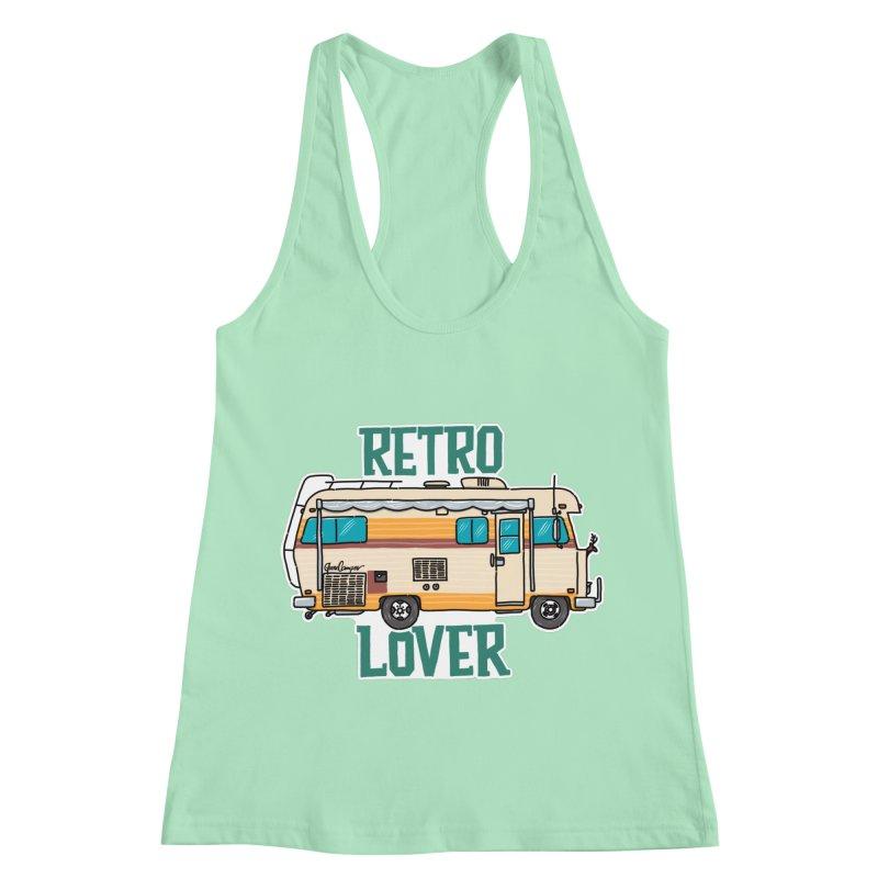 Commander Retro Lover Women's Racerback Tank by Illustrated GuruCamper