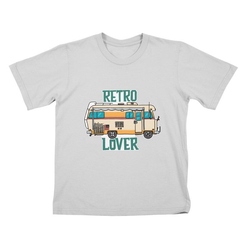 Commander Retro Lover Kids T-Shirt by Illustrated GuruCamper