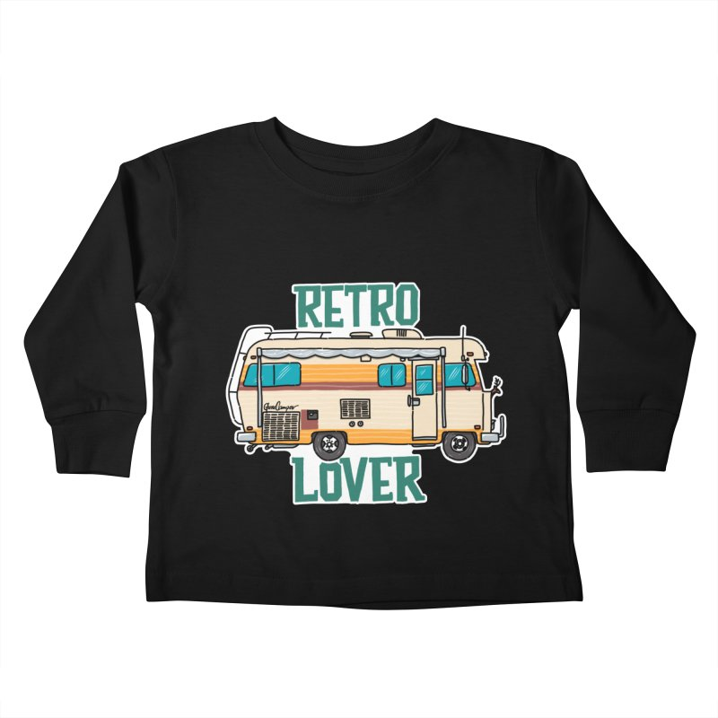 Commander Retro Lover Kids Toddler Longsleeve T-Shirt by Illustrated GuruCamper