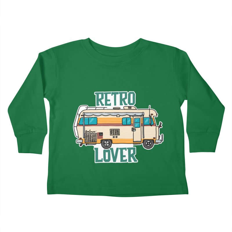 Commander Retro Lover Kids Toddler Longsleeve T-Shirt by Illustrated GuruCamper