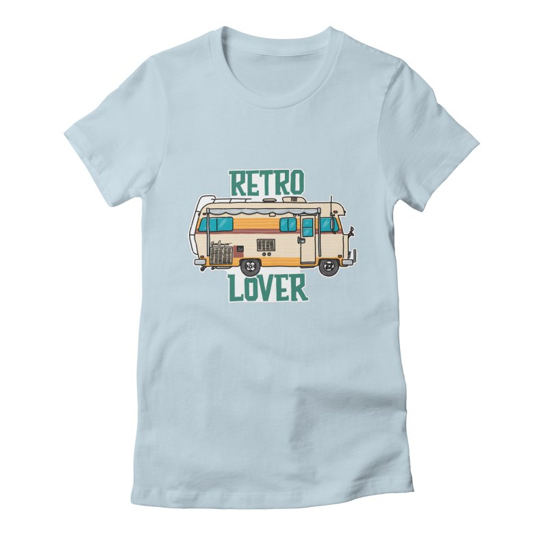 Commander Retro Lover Women's Fitted T-Shirt by Illustrated GuruCamper