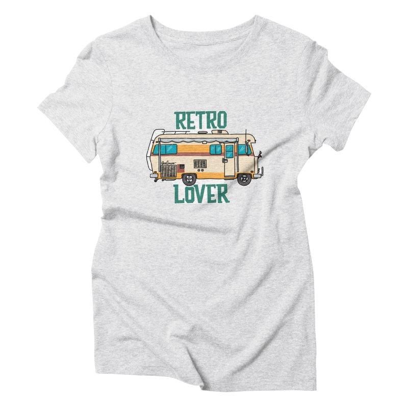Commander Retro Lover Women's Triblend T-Shirt by Illustrated GuruCamper