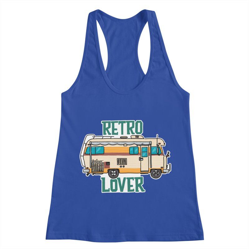Commander Retro Lover Women's Racerback Tank by Illustrated GuruCamper