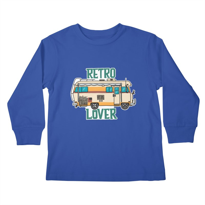 Commander Retro Lover Kids Longsleeve T-Shirt by Illustrated GuruCamper