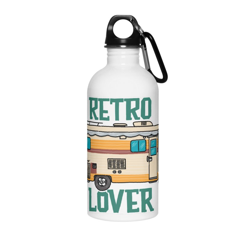 Commander Retro Lover Accessories Water Bottle by Illustrated GuruCamper