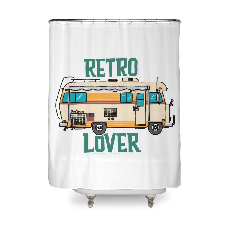Commander Retro Lover Home Shower Curtain by Illustrated GuruCamper