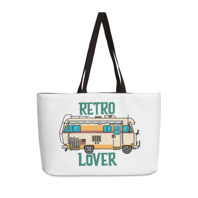 Commander Retro Lover Accessories Weekender Bag Bag by Illustrated GuruCamper