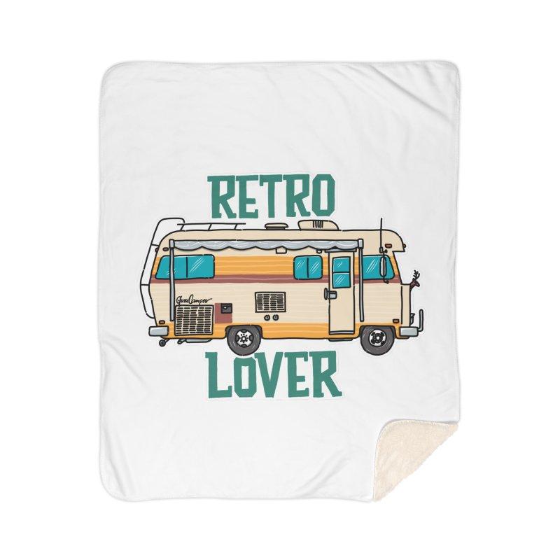 Commander Retro Lover Home Sherpa Blanket Blanket by Illustrated GuruCamper