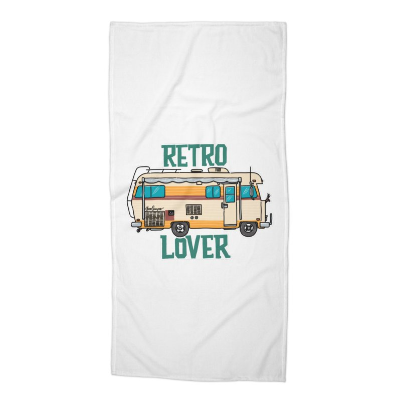 Commander Retro Lover Accessories Beach Towel by Illustrated GuruCamper