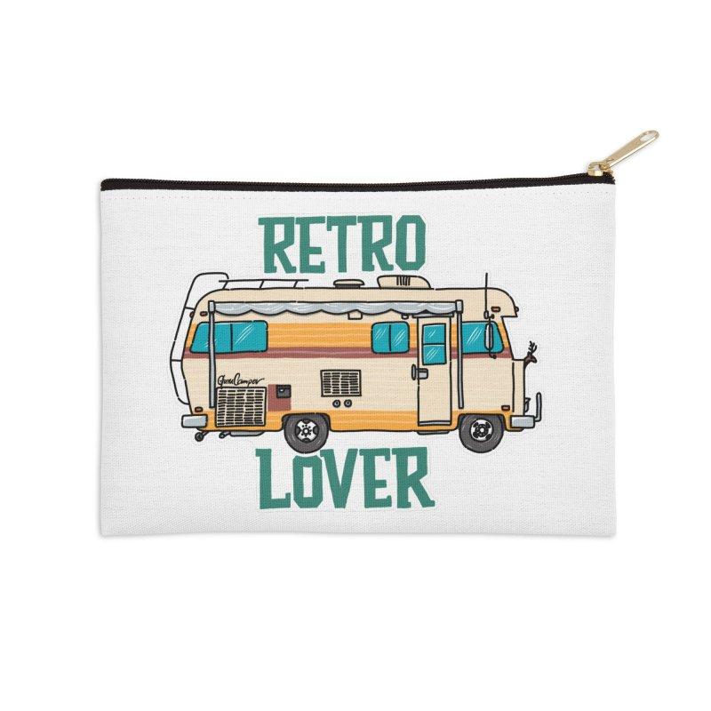 Commander Retro Lover Accessories Zip Pouch by Illustrated GuruCamper