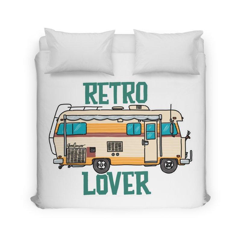 Commander Retro Lover Home Duvet by Illustrated GuruCamper