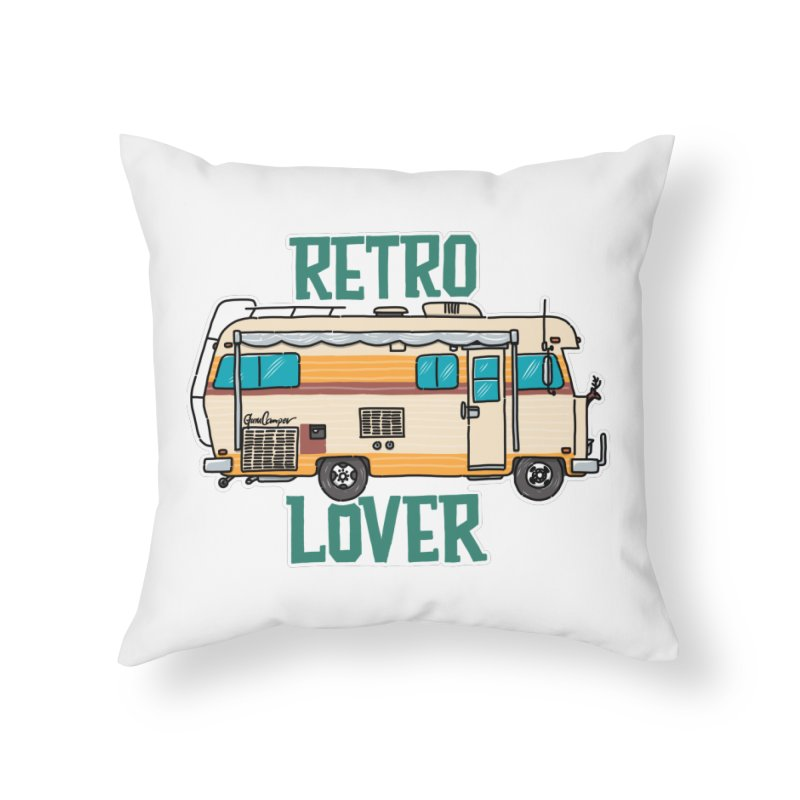 Commander Retro Lover Home Throw Pillow by Illustrated GuruCamper