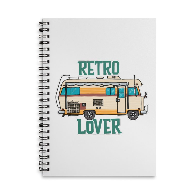 Commander Retro Lover Accessories Lined Spiral Notebook by Illustrated GuruCamper