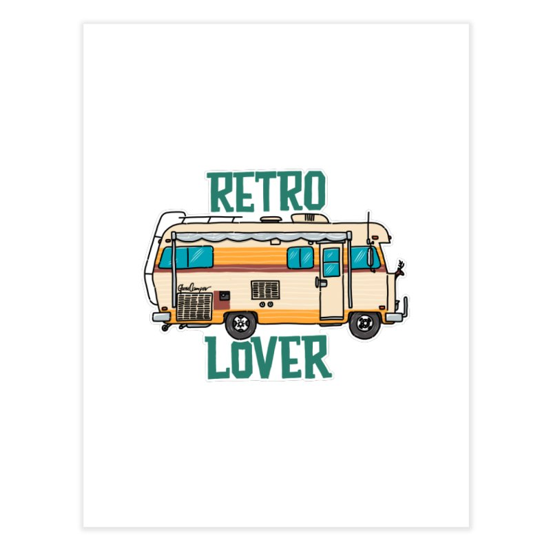 Commander Retro Lover Home Fine Art Print by Illustrated GuruCamper