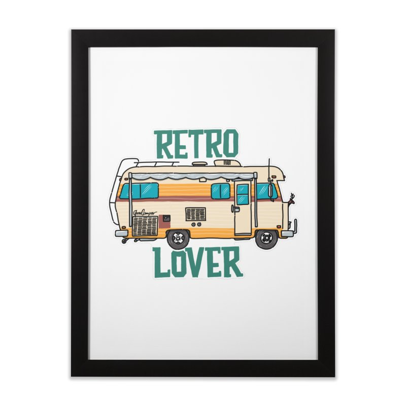 Commander Retro Lover Home Framed Fine Art Print by Illustrated GuruCamper