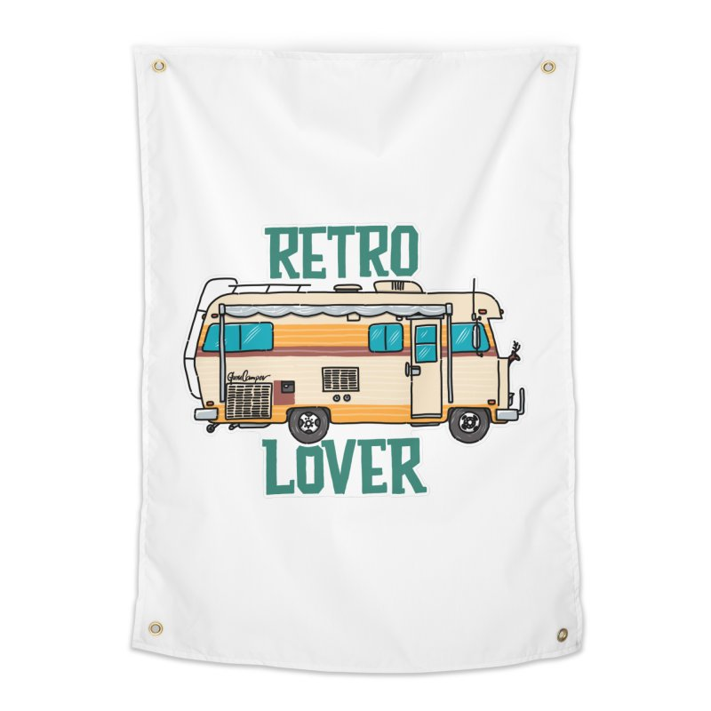 Commander Retro Lover Home Tapestry by Illustrated GuruCamper