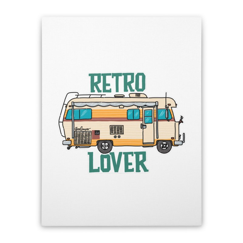 Commander Retro Lover Home Stretched Canvas by Illustrated GuruCamper