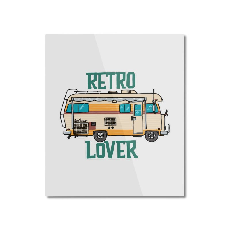 Commander Retro Lover Home Mounted Aluminum Print by Illustrated GuruCamper