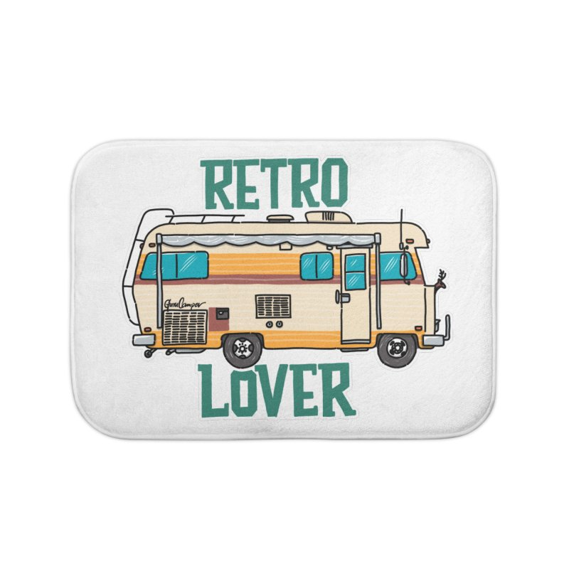 Commander Retro Lover Home Bath Mat by Illustrated GuruCamper