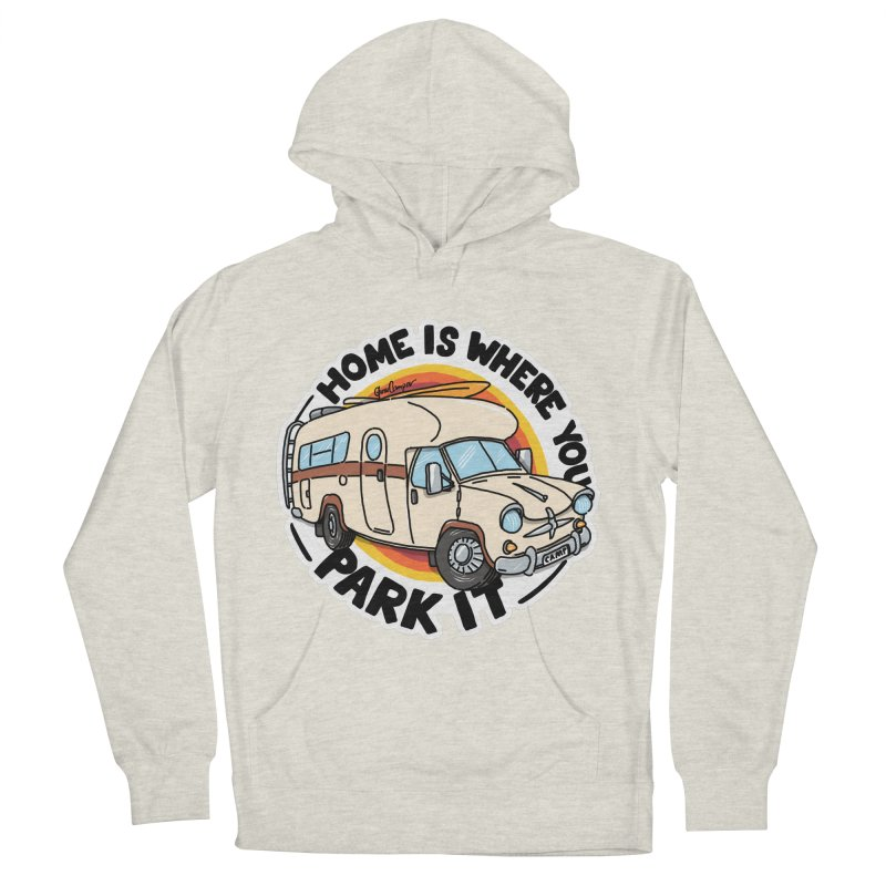 Home is Where You Park It Men's French Terry Pullover Hoody by Illustrated GuruCamper