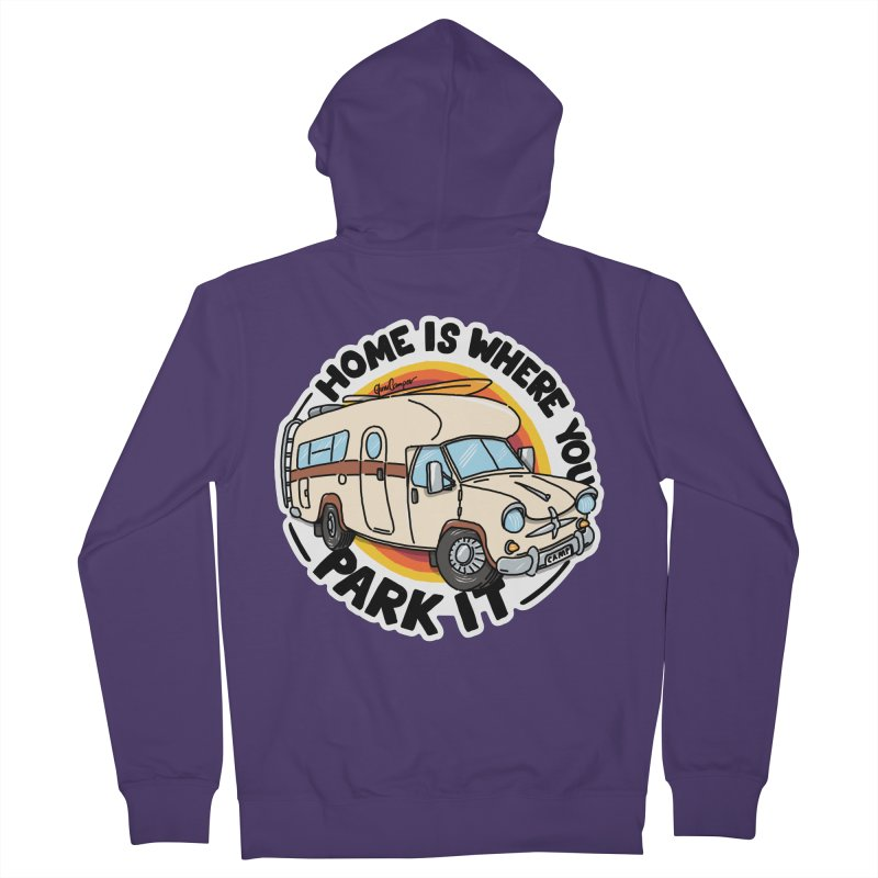 Home is Where You Park It Women's French Terry Zip-Up Hoody by Illustrated GuruCamper