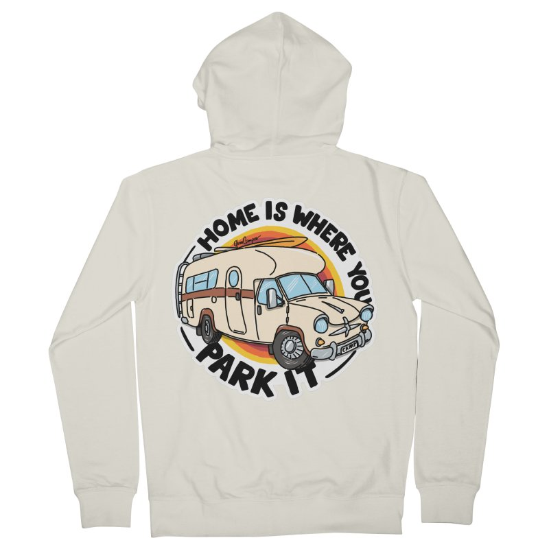 Home is Where You Park It Men's French Terry Zip-Up Hoody by Illustrated GuruCamper