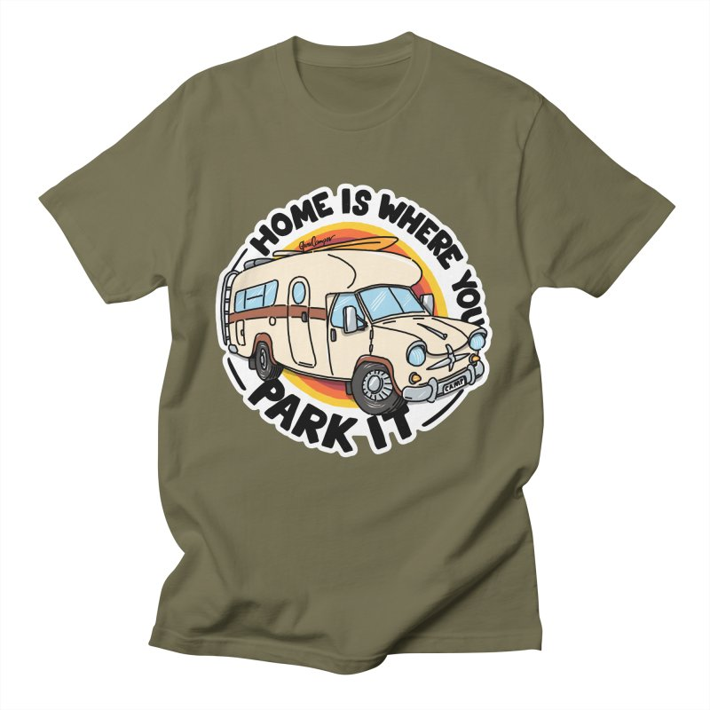 Home is Where You Park It Men's T-Shirt by Illustrated GuruCamper