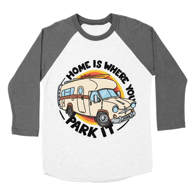Home is Where You Park It Men's Baseball Triblend Longsleeve T-Shirt by Illustrated GuruCamper