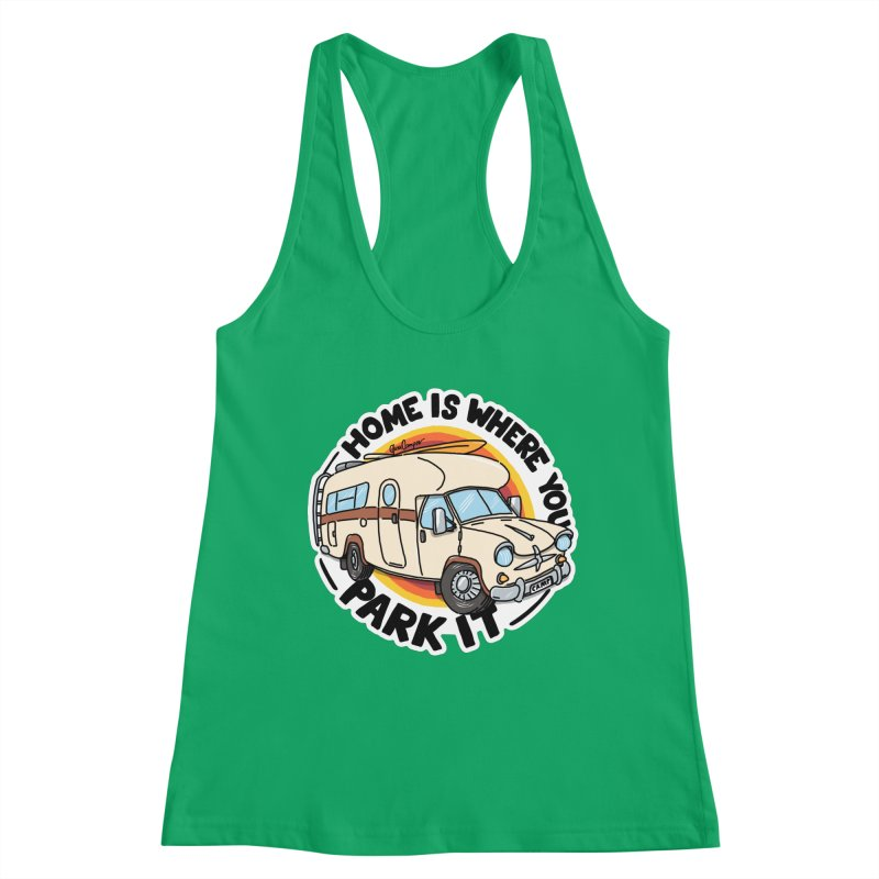 Home is Where You Park It Women's Tank by Illustrated GuruCamper