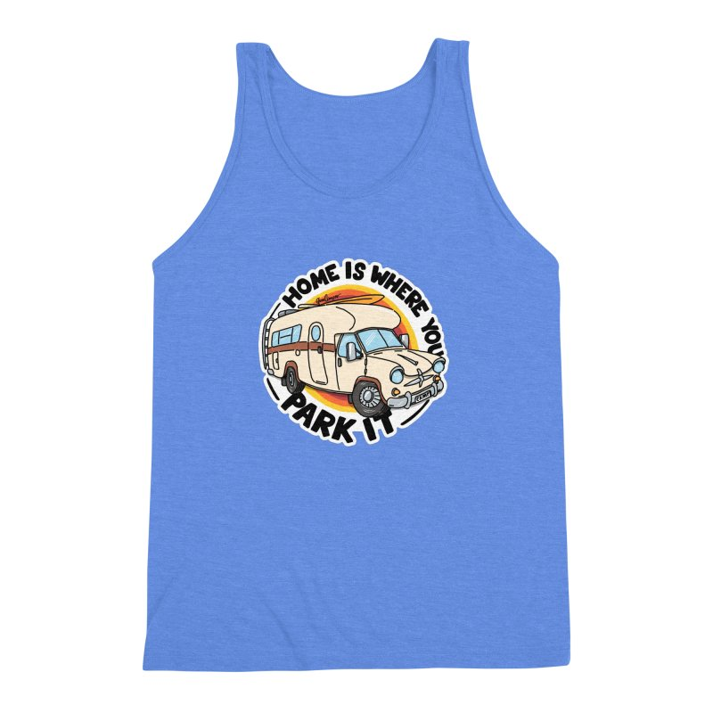 Home is Where You Park It Men's Triblend Tank by Illustrated GuruCamper