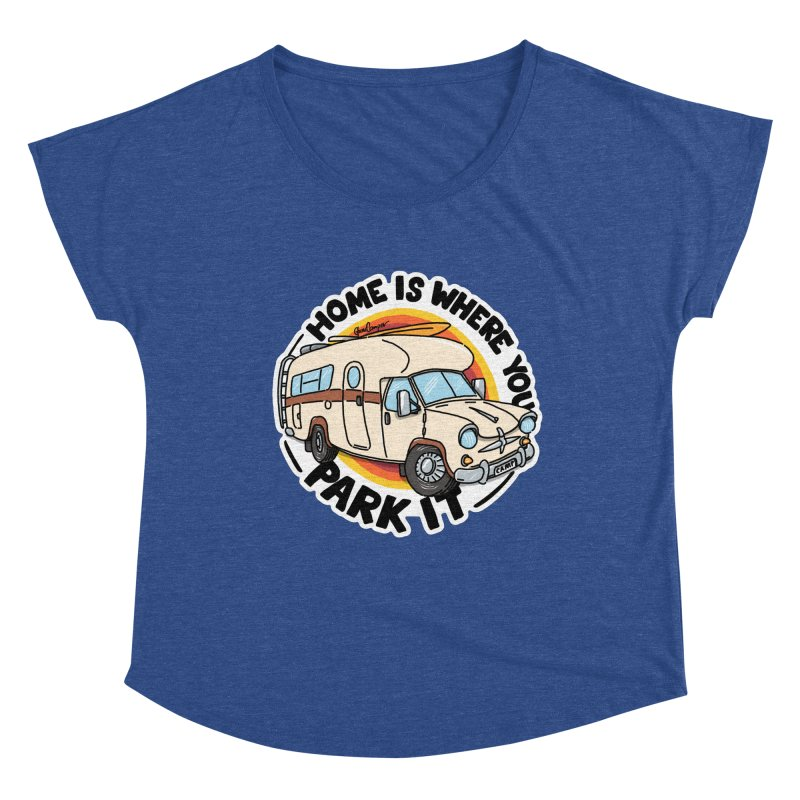 Home is Where You Park It Women's Scoop Neck by Illustrated GuruCamper