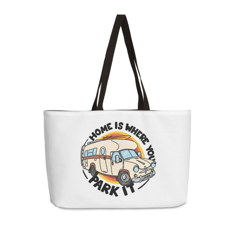 Home is Where You Park It Accessories Weekender Bag Bag by Illustrated GuruCamper