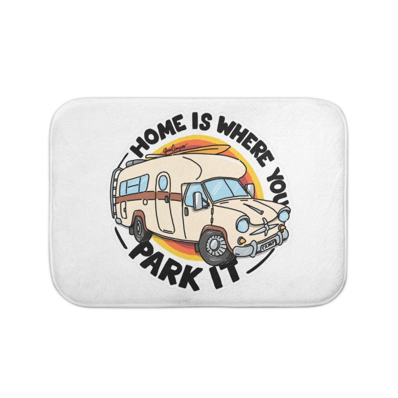 Home is Where You Park It Home Bath Mat by Illustrated GuruCamper