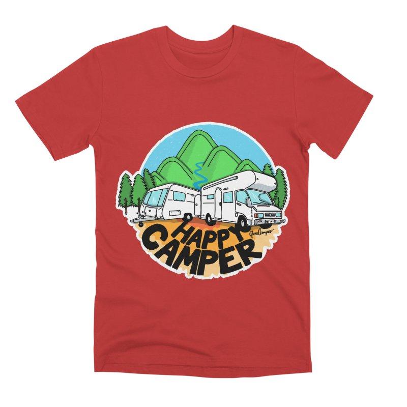 Happy Camper Mountains Men's Premium T-Shirt by Illustrated GuruCamper